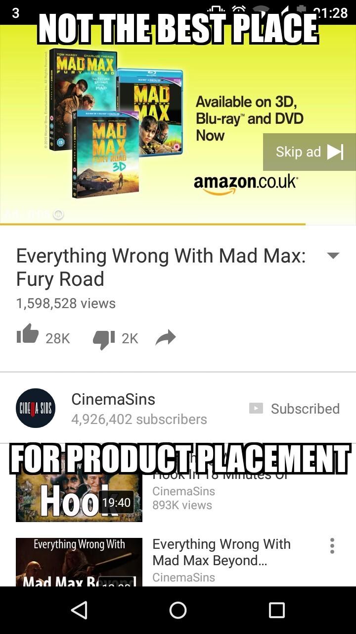 Still a pretty good movie though - meme