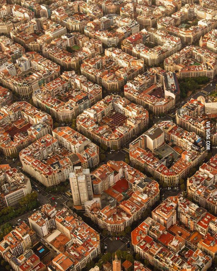 Barcelona vista de cima - meme
