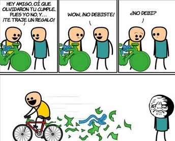 bicicleta - meme