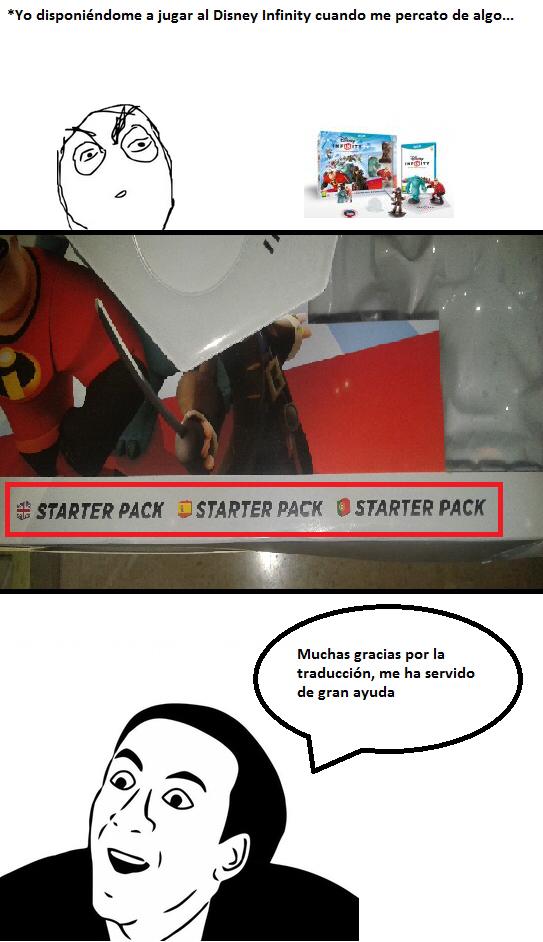 Traducción de Disney infinity - meme