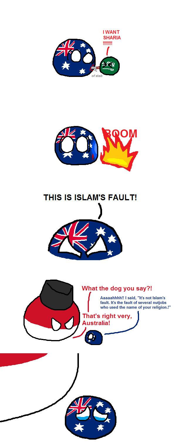Australia's neighbours - meme