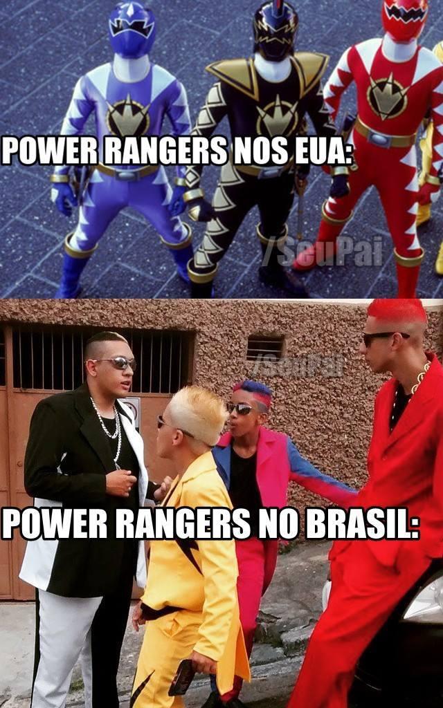 Power Rangers força do Crack - meme
