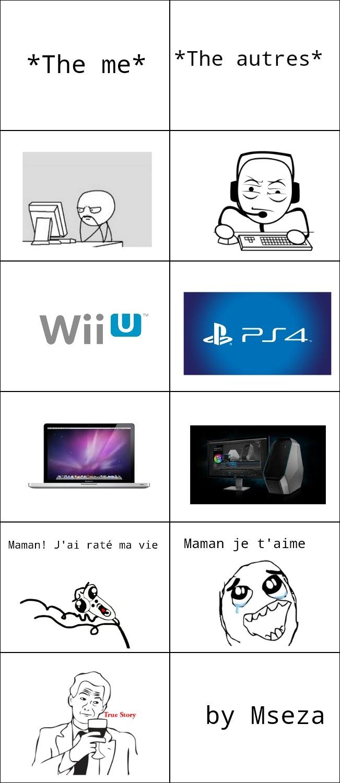 Enfance de gamer - meme