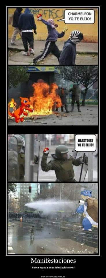 Batalla pokemon. Sigueme y te sigo ;) - meme