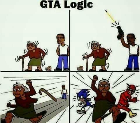 Solo su GTA - meme