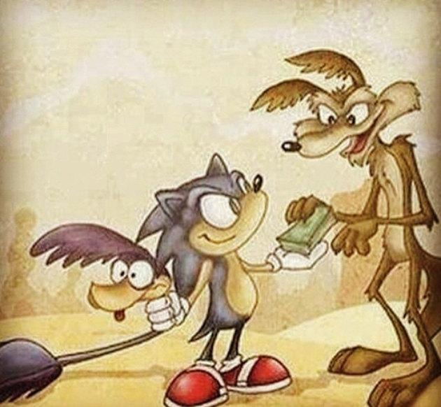 Sonic>flash>>>papaleguas>>>>>>>mercurio - meme