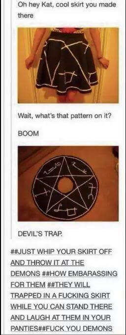 Take That Demons! - meme