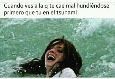 El título se ahogo en el tsunami :v - meme