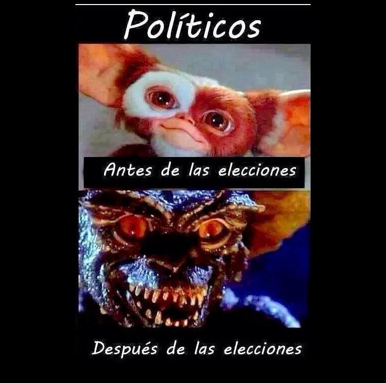 simplemente políticos - meme