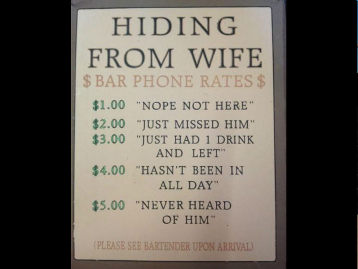 How does the wife get the bar keep on the phone? - meme