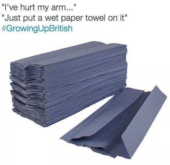 Growing up British - meme