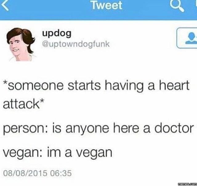 Damn Vegans - meme