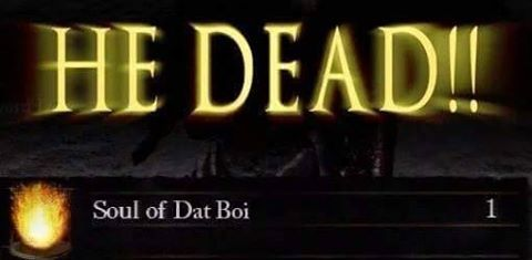 Soul of dat boi attained - meme