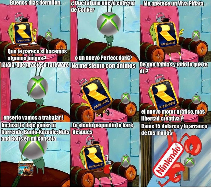 Maldito rareware - meme