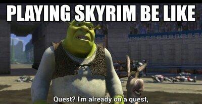 Skyrim every time - meme