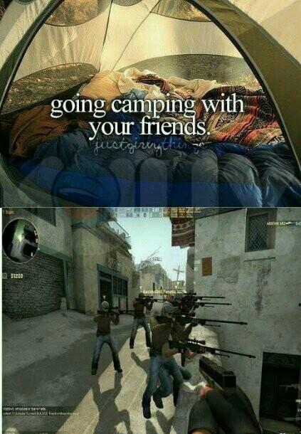 Le camping pour d'autre n'est pas le même pour tout le monde. - meme