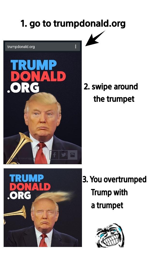 Trump too much - meme