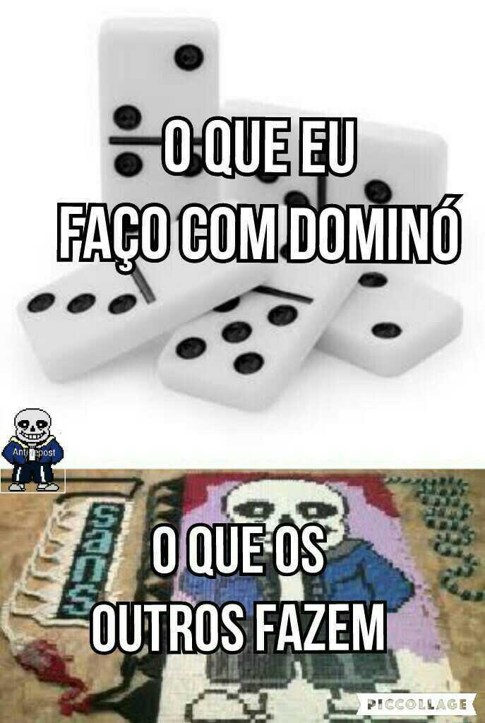 Eu sou um lixo com dominó - meme
