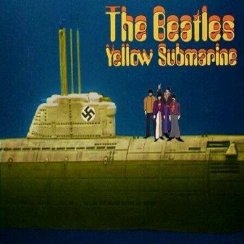 We all live in a yellow submarine, yellow submarine, yellow submarine! - meme