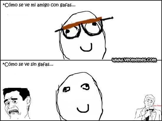 Sin gafas retard - meme