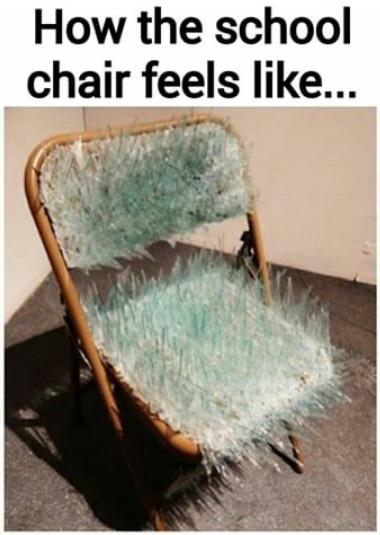 School chairs.... - meme