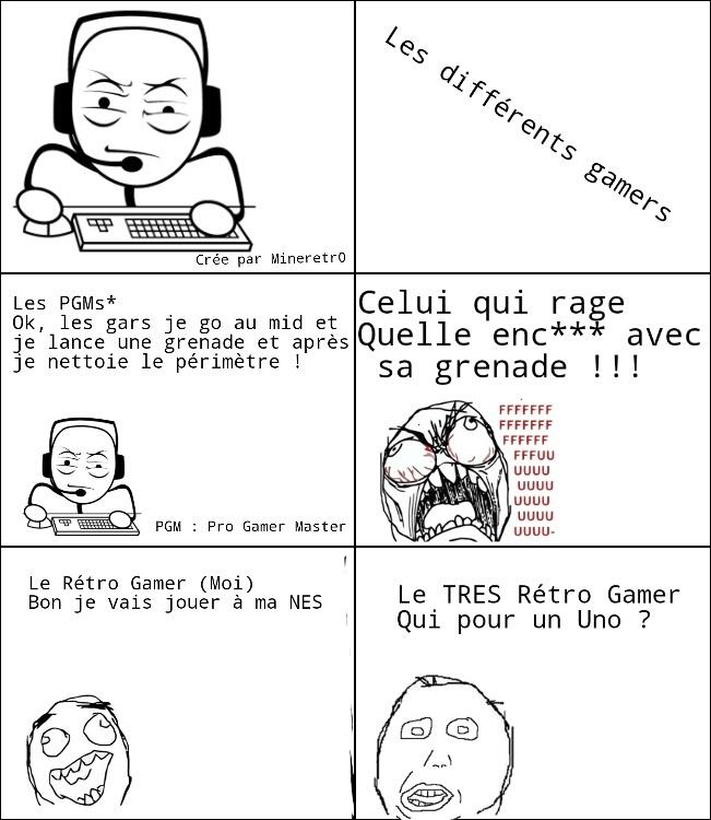 Différents Gamers - meme