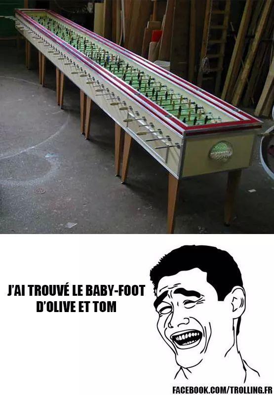5505ac4bbf395 le baby foot d'olive et tom meme by daymond ) memedroid