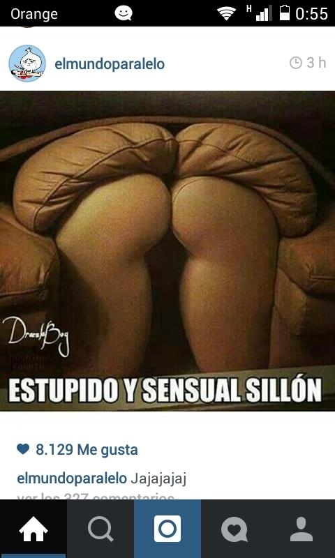 Estupido y sensual sillon - meme