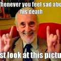 R.I.P. Sir Christopher Lee. We all will miss you dearly