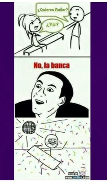 Banca baila conmigo - meme