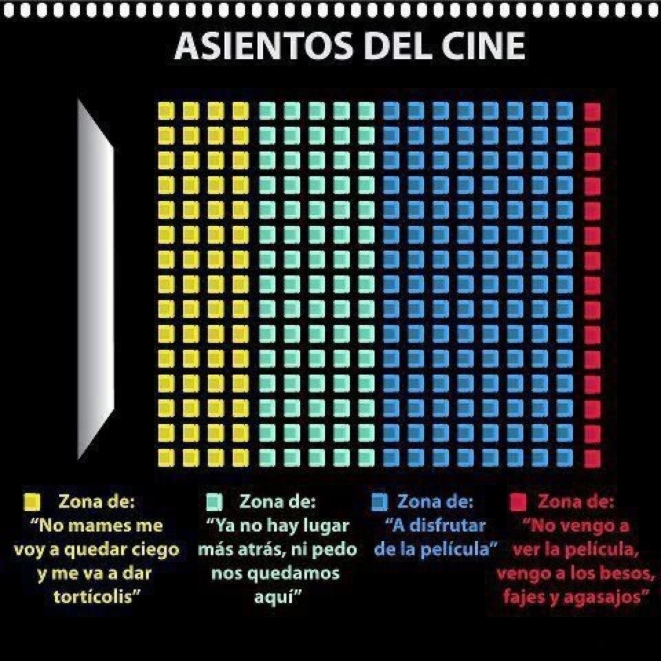 Asientos del cine - meme