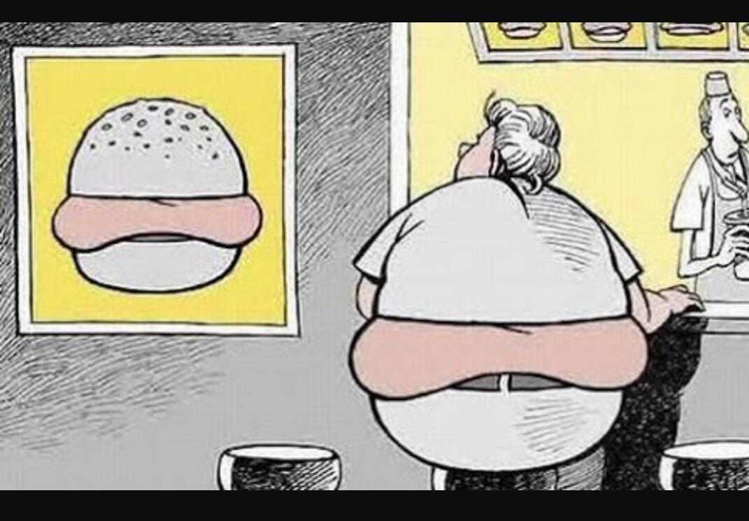 Gordo drama entre o sucesso e a batata frita  - meme