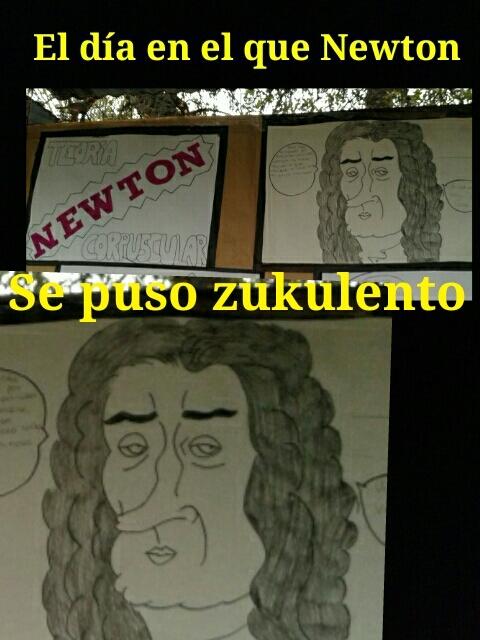 Ese Newton es un loquillo - meme