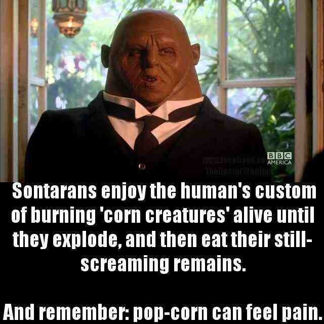 Sontarans... they be naturally savage - meme
