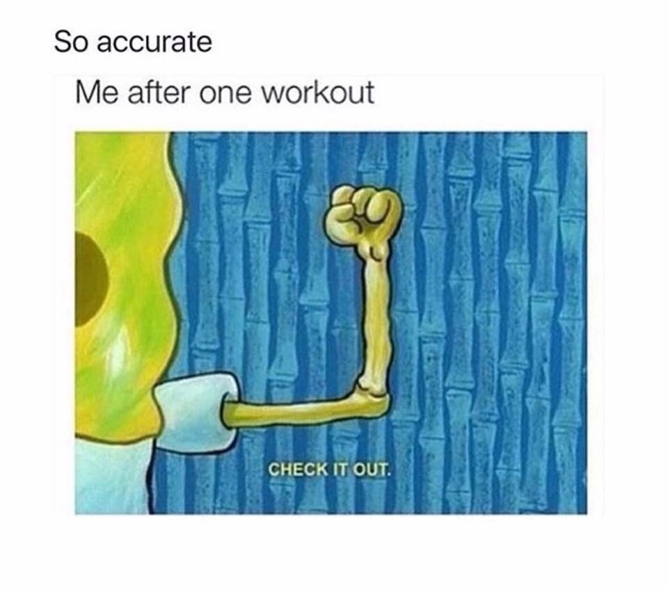 working out - meme