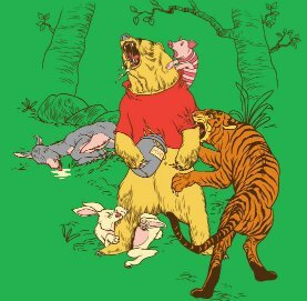 Winnie-the-Pooh behind the laughter - meme