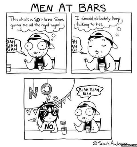 Men at bars - meme