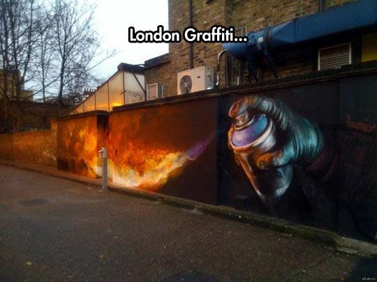Graffiti art for the cold winter - meme
