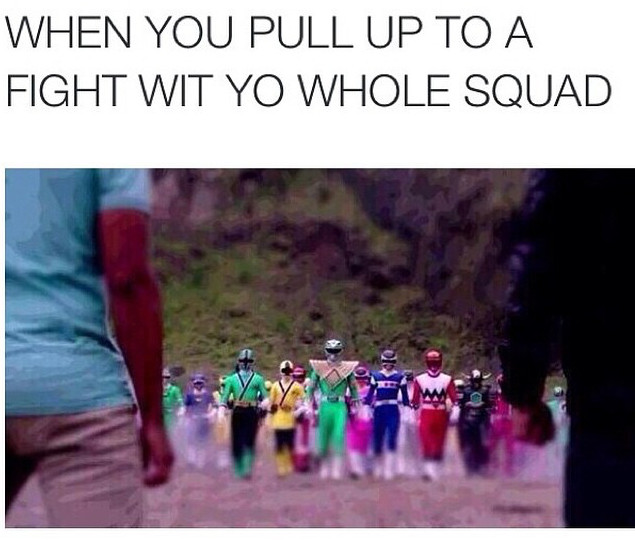 Square up lil niggas - meme