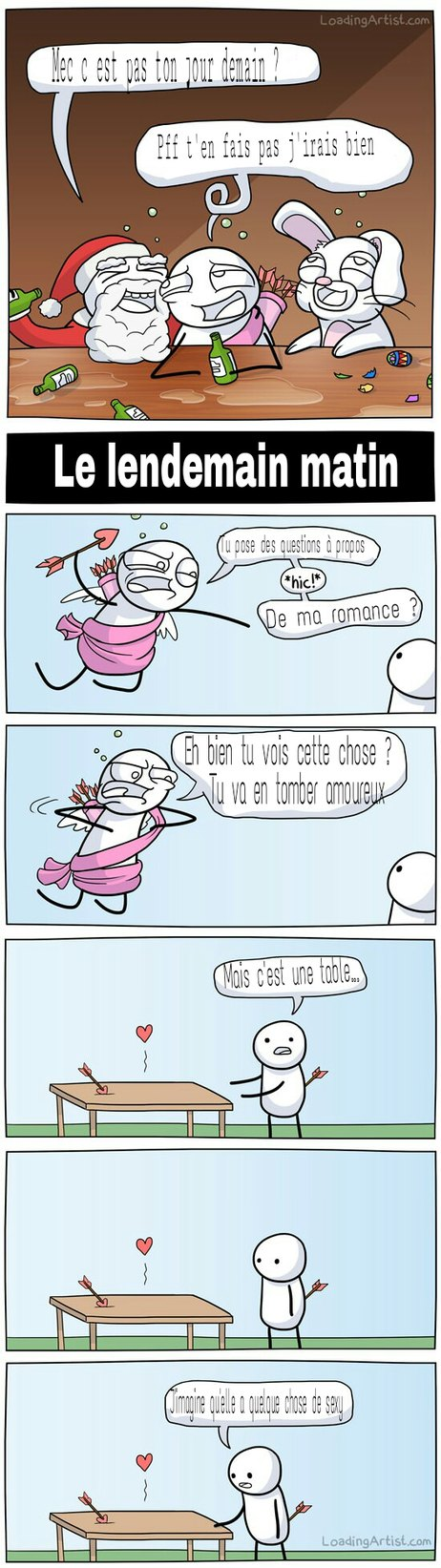 Quand Cupidon bois - meme
