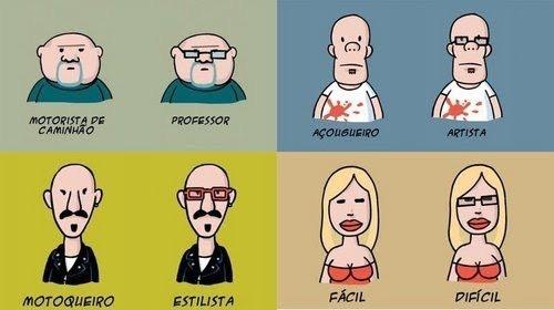 Um óculos faz muita diferença - meme