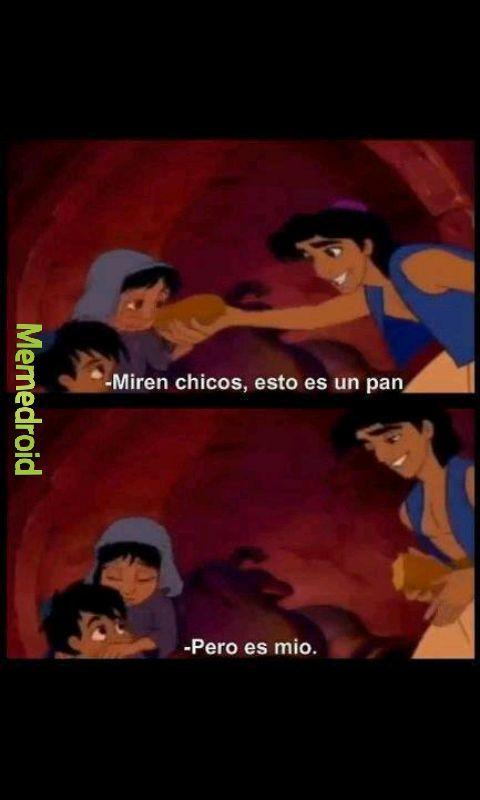 Aladdin eres un desmadre - meme