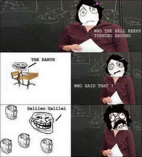 Trolling school - meme