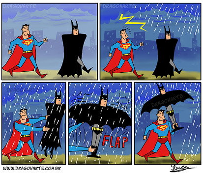 Superman wins this one lol - meme
