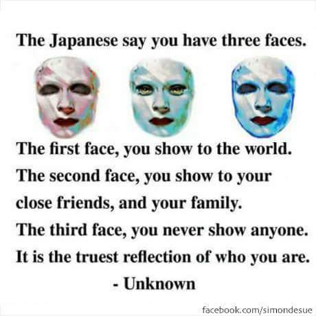 The three faces - meme
