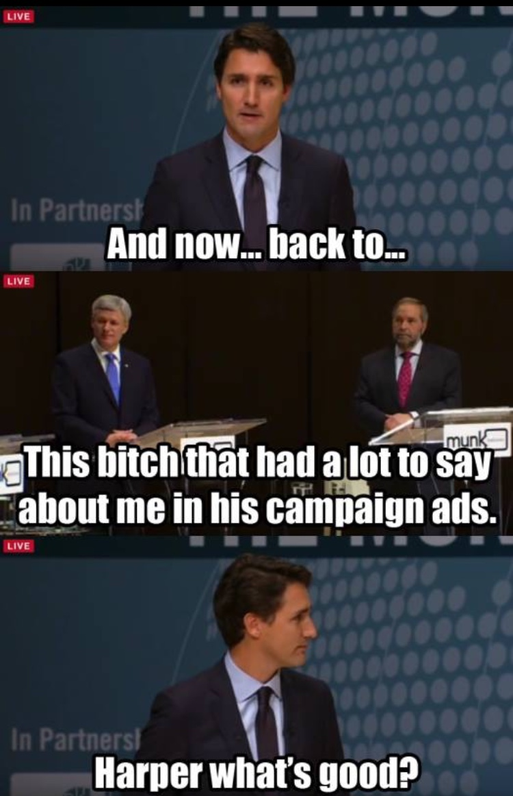 Trudeau for the win - meme