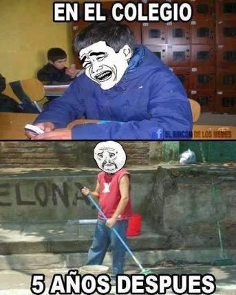 la escuela - meme