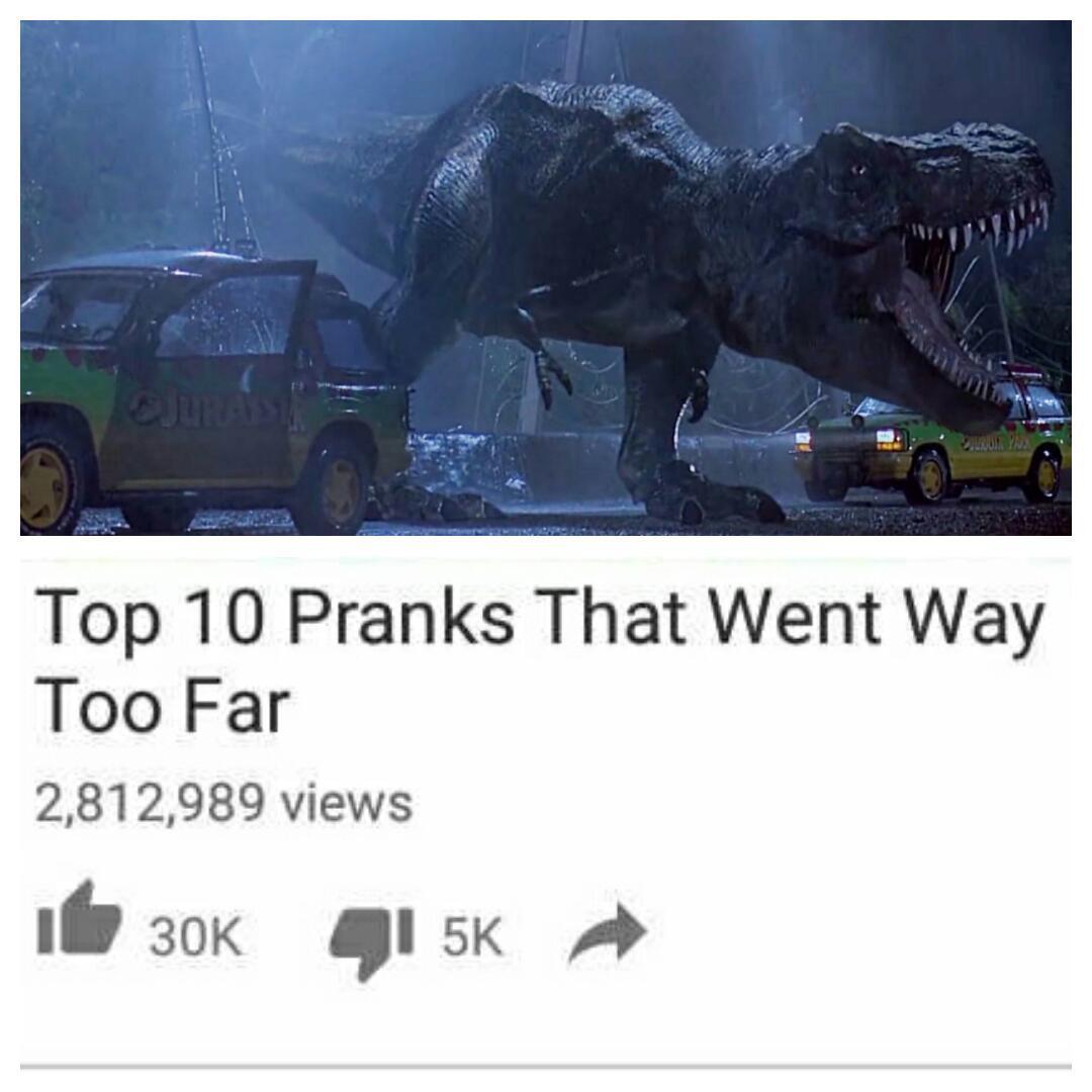 Way to far - meme