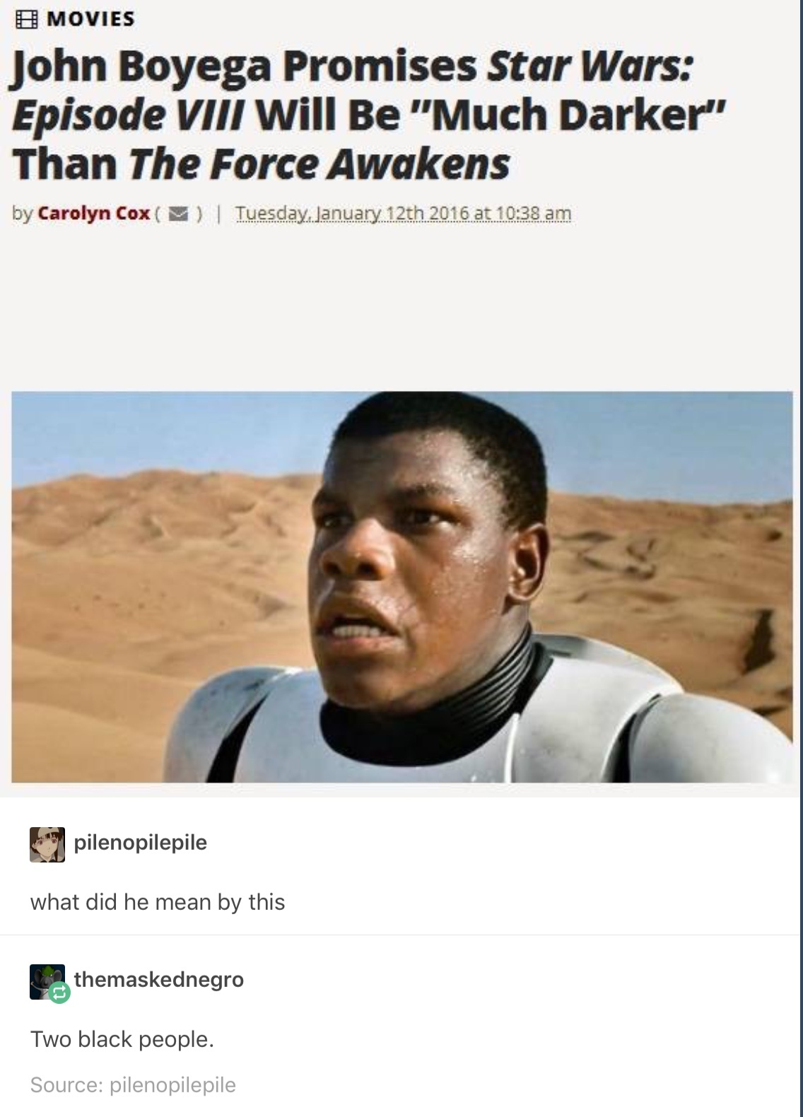 5th comment is a random insignificant storm trooper - meme