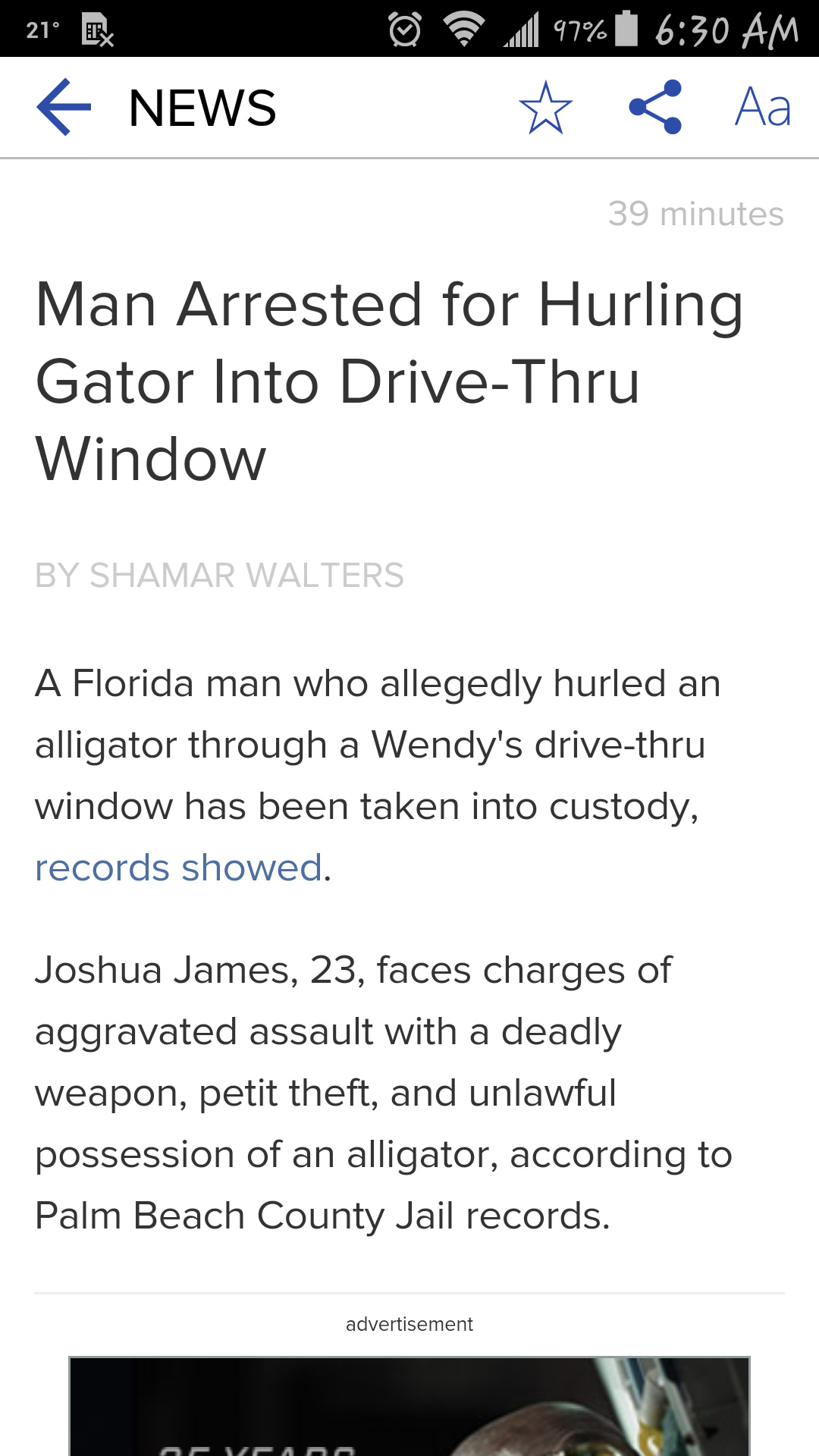 Florida Man strikes again... - meme